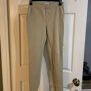 Girls khaki jeggings, size xl 14/16